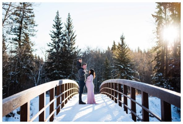 Calgary Winter Maternity Session | Josh & Marcia | Calgary Maternity Photographer