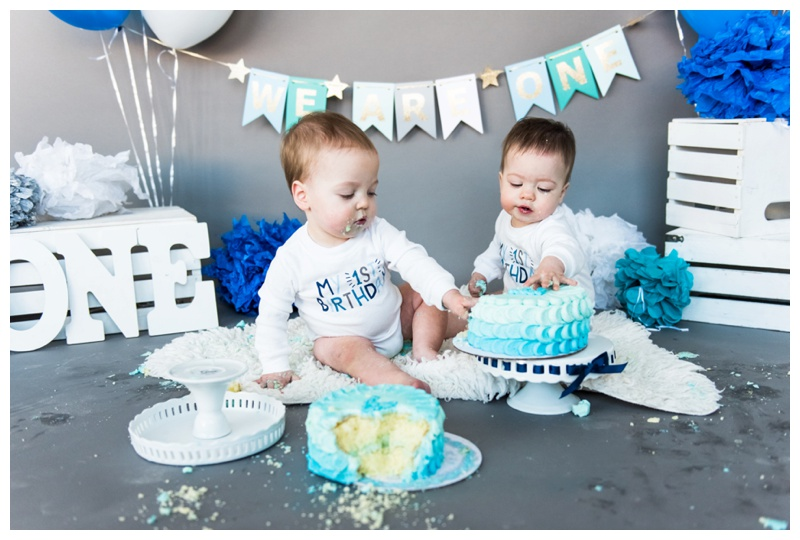 Calgary Twin Cake Smash Photography