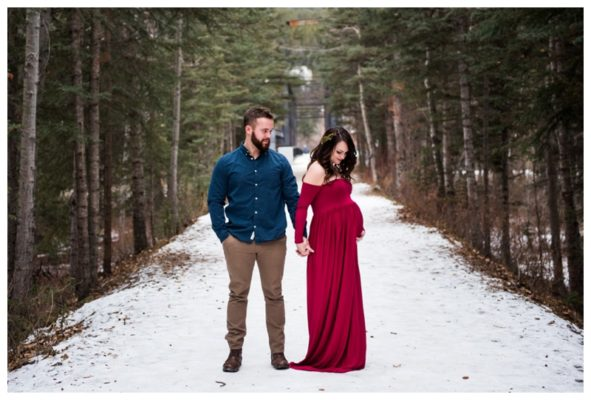 Canmore Rocky Mountain Maternity Session | Thomas & Alix | Canmore Maternity Photographer