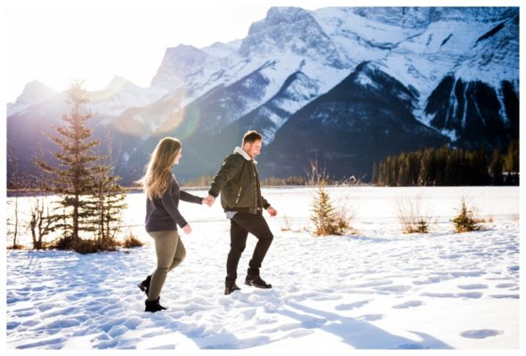 Canmore Wedding Proposal Photography | James & Tori | Canmore Wedding Photographer