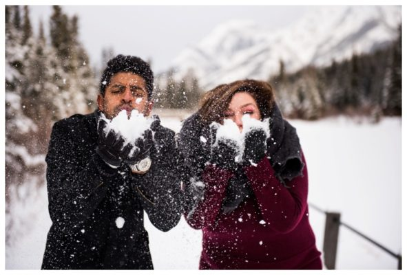 Cozy Winter Campfire Engagement Session | JC & Kaleigh | Canmore Engagement Photographer