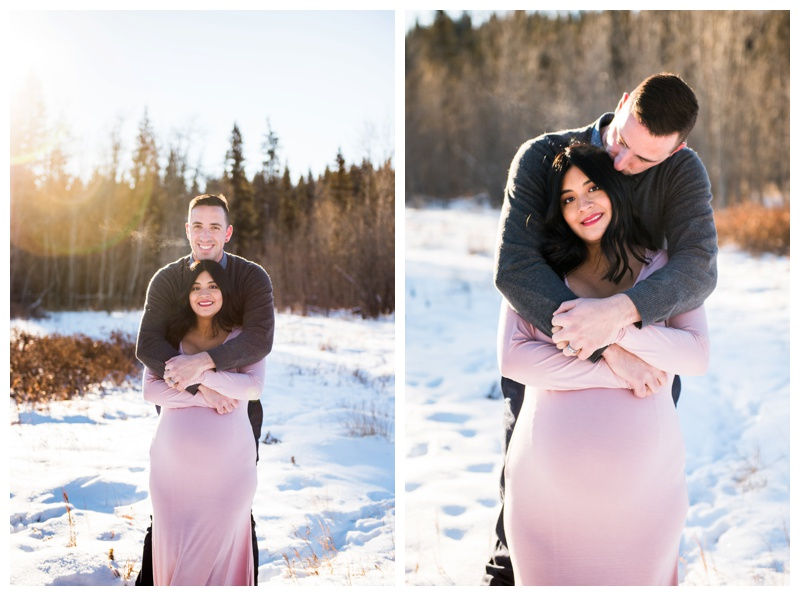 Winter Maternity Photos Calgary Alberta