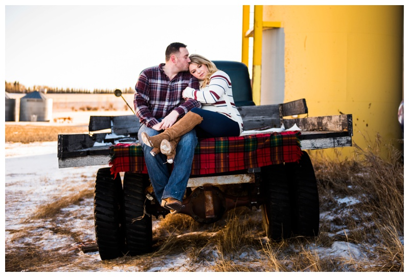 Antique Truck Engagement Photos Calgary