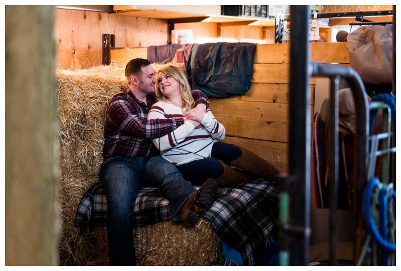 Barn Engagement Photos Calgary