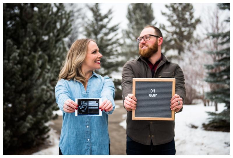 Calgary Baby Announcement Photographer