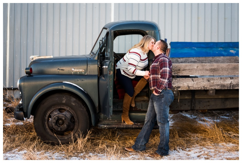 Calgary Farm Engagement Photographers