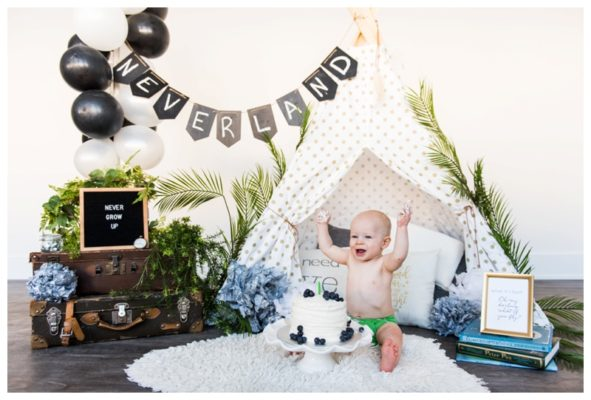 Peter Pan Themed Calgary Cake Smash | Gunnar is ONE | Calgary Cake Smash Photographer