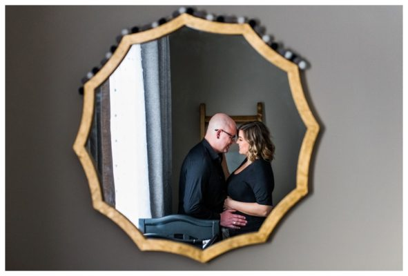 Calgary In Home Maternity Session | Luke & Jessica | Calgary Maternity Photographer