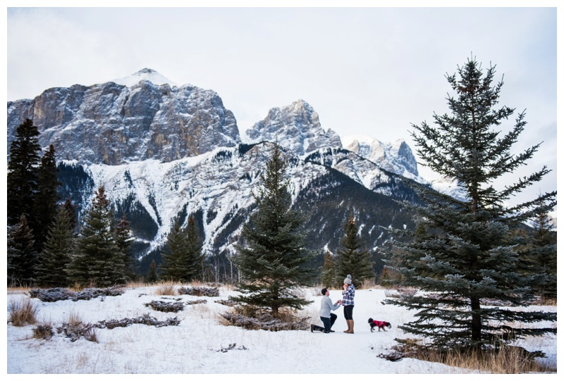 Canmore Wedding Proposal Photography