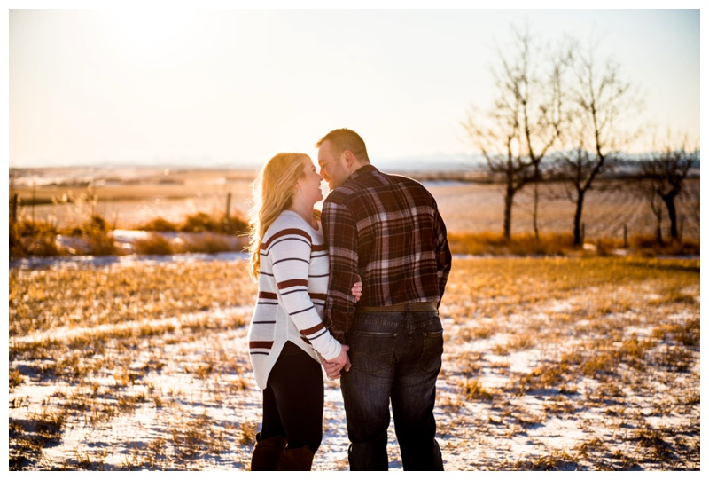 Farm Engagement Photos - Calgary Engagement Photohgrapher