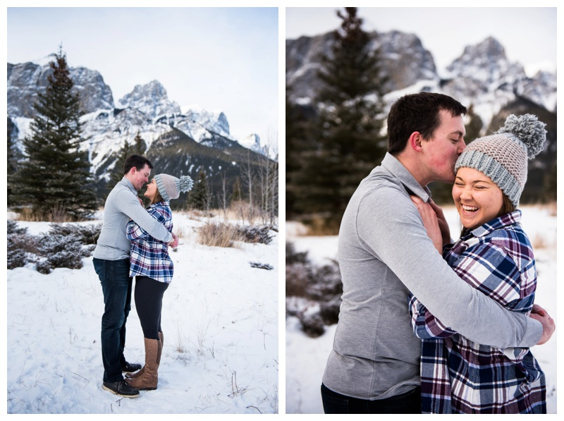 Quarry Lake Engagement Photos Canmore
