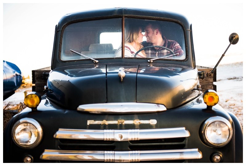 Vintage Truck Engagement Photographer Calgary