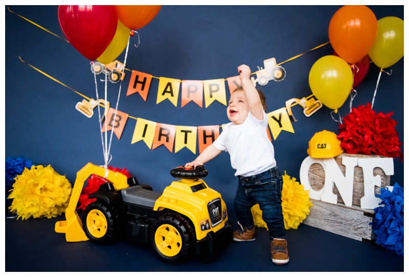 Construction Themed First Birthday - Calgary Alberta