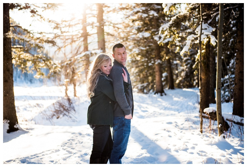 Winter Engagement Photos Calgary