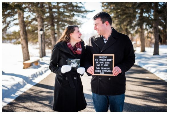 Calgary Baby Announcement Session | Mike & Kendall | Calgary Maternity Photographer
