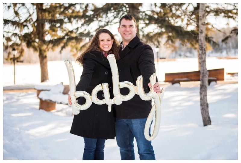 Calgary Baby Announcement Photos
