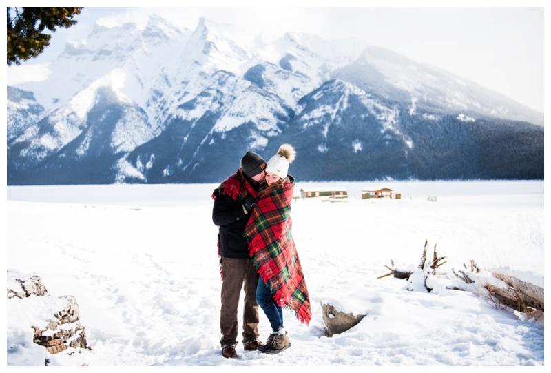 Banff Lake Minniwanka Wedding Proposal