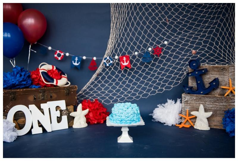 Nautical First Birthday Cake Smash Calgary Alberta