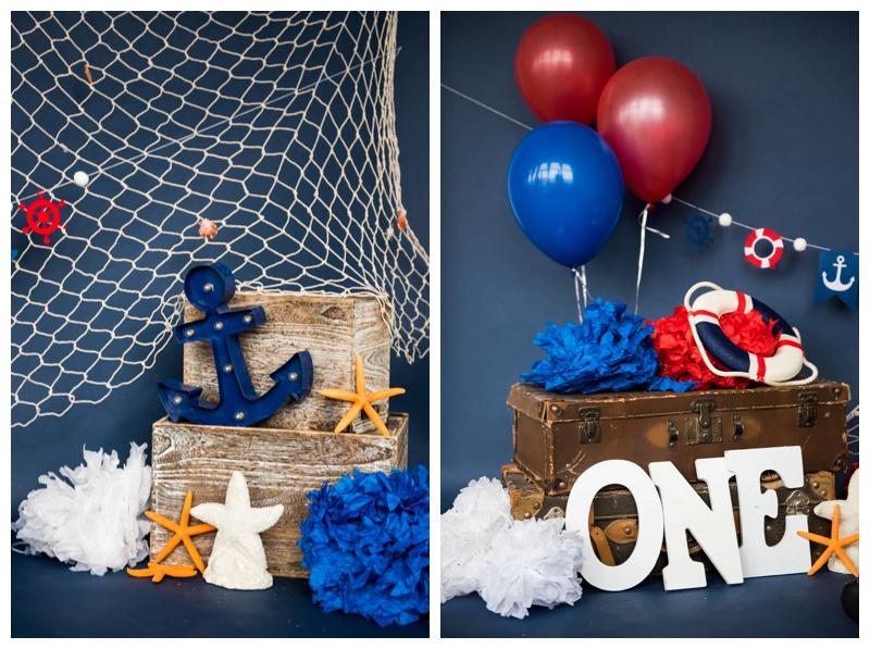 Nautical First Birthday Cake Smash