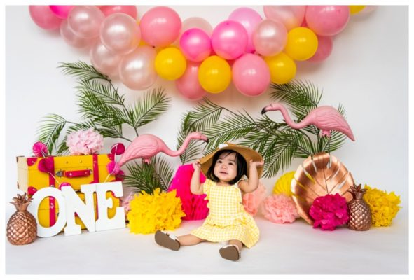 Calgary Tropical Cake Smash Session | Clyna Avery Is ONE! | Calgary Cake Smash Photographer