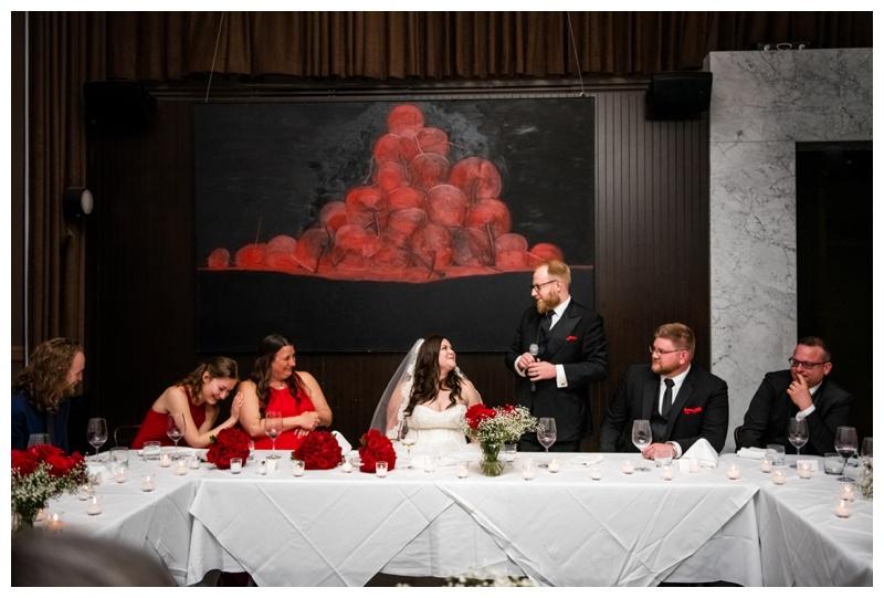Calgary Alberta Teatro Restaurant Wedding Reception