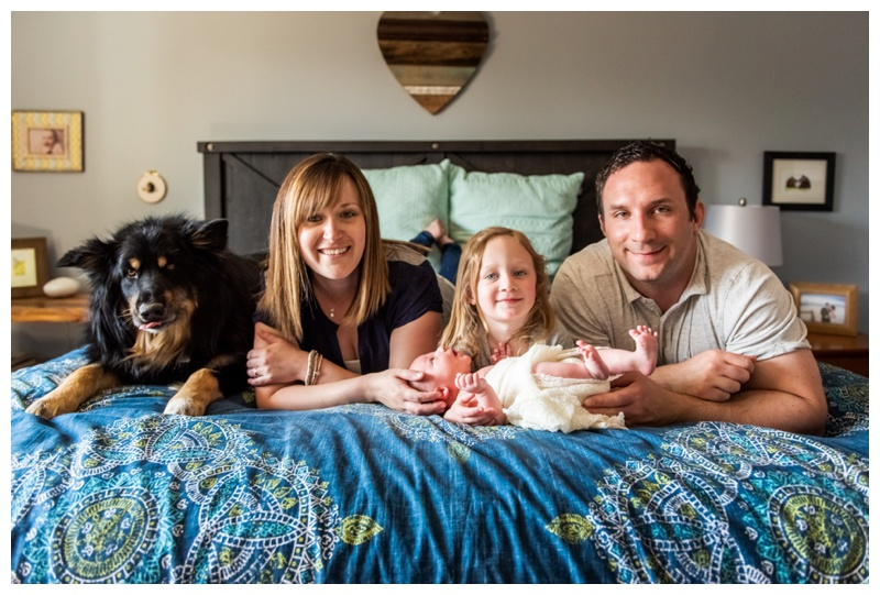 At Home Family Newborn Photography Session