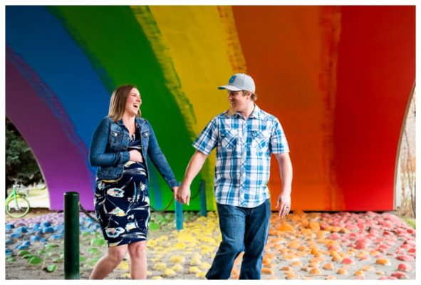 Calgary Rainbow Bridge Maternity Session | D.J & Katelyn | Calgary Maternity Photographer