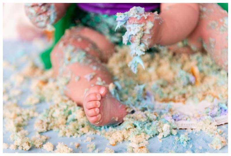 Mermaid First Birthday Cake Smash Photographer Calgary.