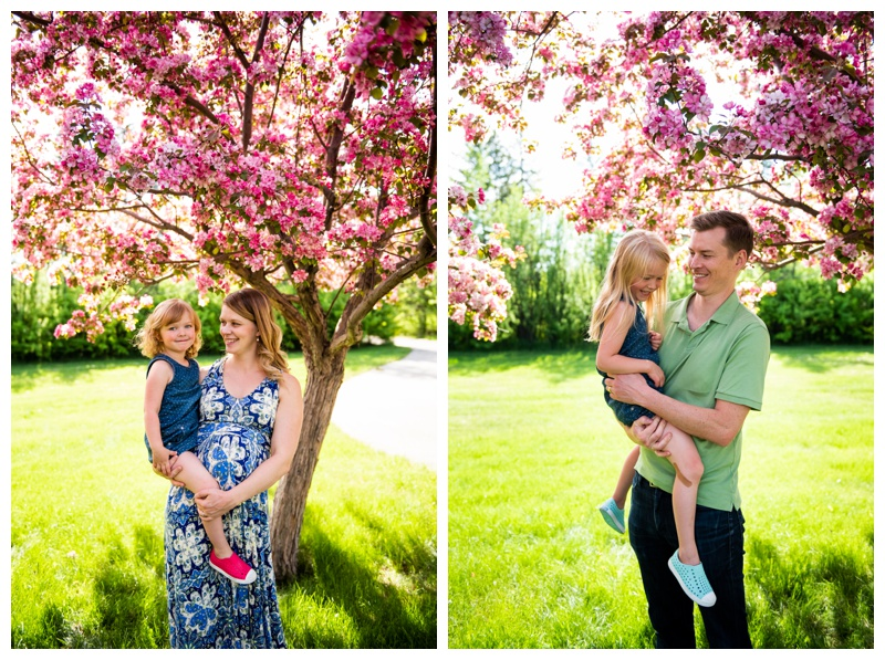 Calgary Cherry Blossom Family Photos