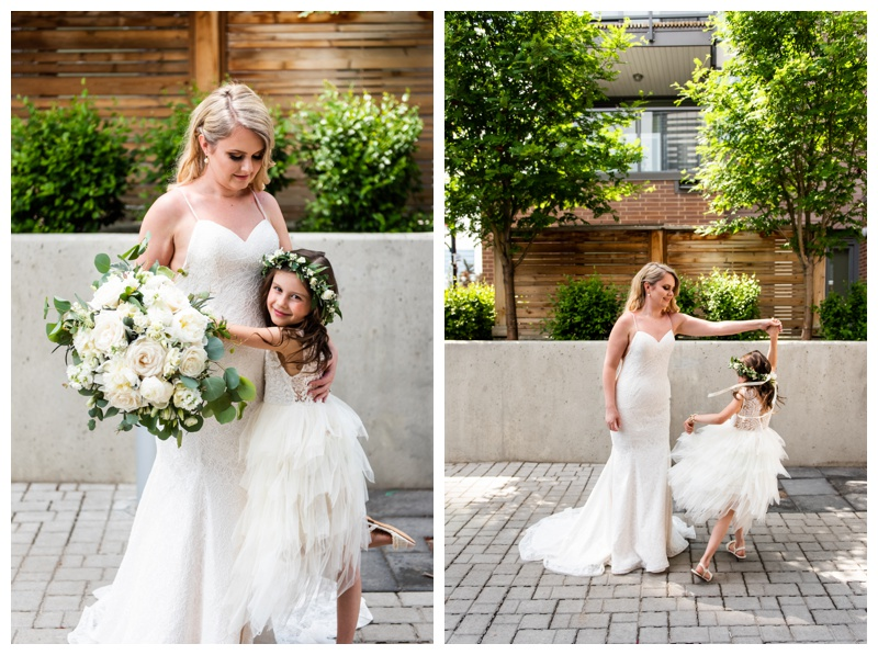 Calgary Wedding Photographer- Bride & Flower Girl Photos