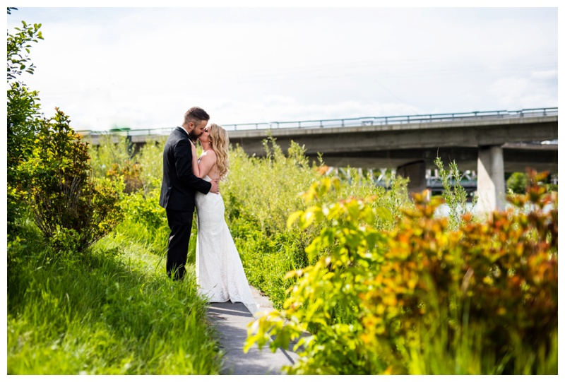 Calgary Wedding Photographer- East Village Bride & Groom Photos