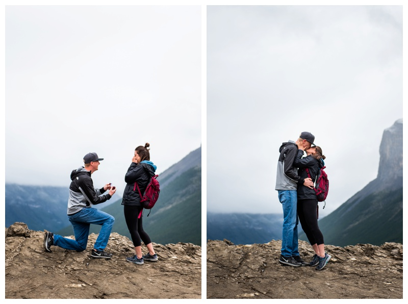 Lake Minniwanka Banff Proposal Photographer