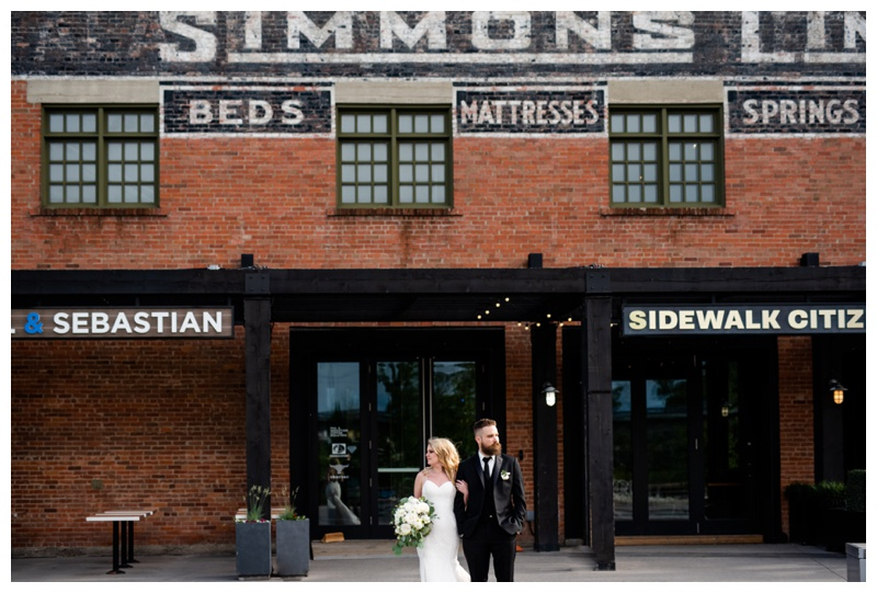 Simmons Building Calgary Wedding Photography