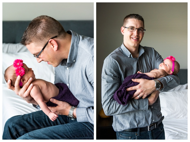 At home Newborn Photographers Calgary