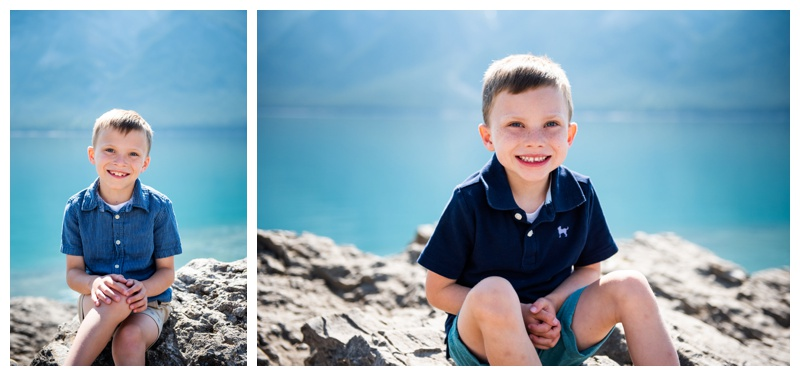 Banff Lake Minniwanka Family Photography