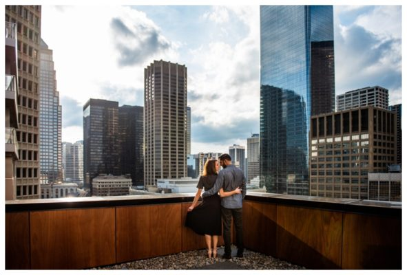 Calgary Le Germain Roof Top Engagement Session | Imran & Nicole | Calgary Engagement Photographer