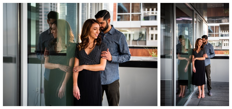 Calgary Le Germain Hotel Roof Top Engagement Photographers