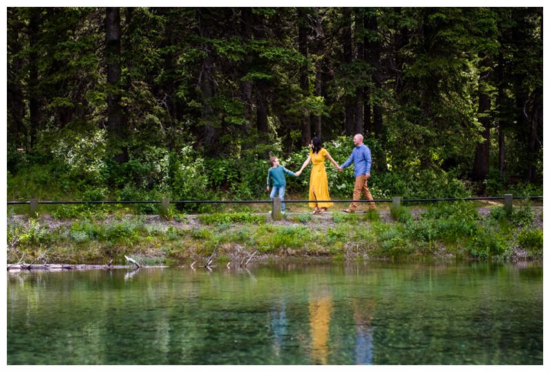 Kananaskis Mount Loretta Ponds Family Photo