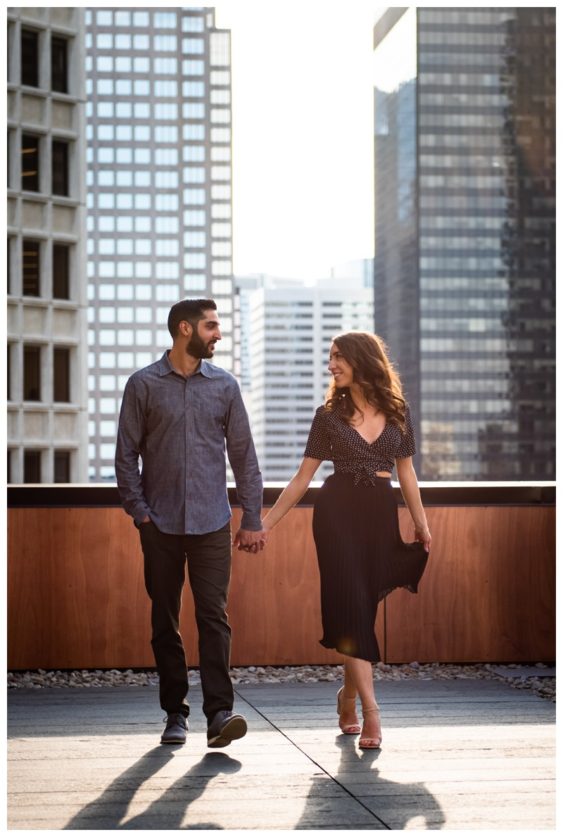 Calgary Le Germain Roof Top Engagement Session
