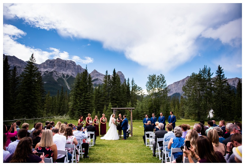 Canmore Ranch Wedding Ceremony Photography