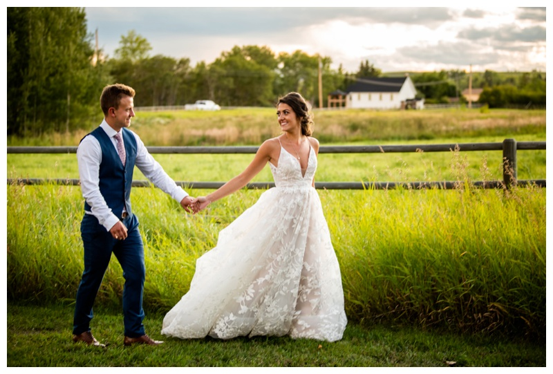 Calgary Alberta Sunset Wedding Photos