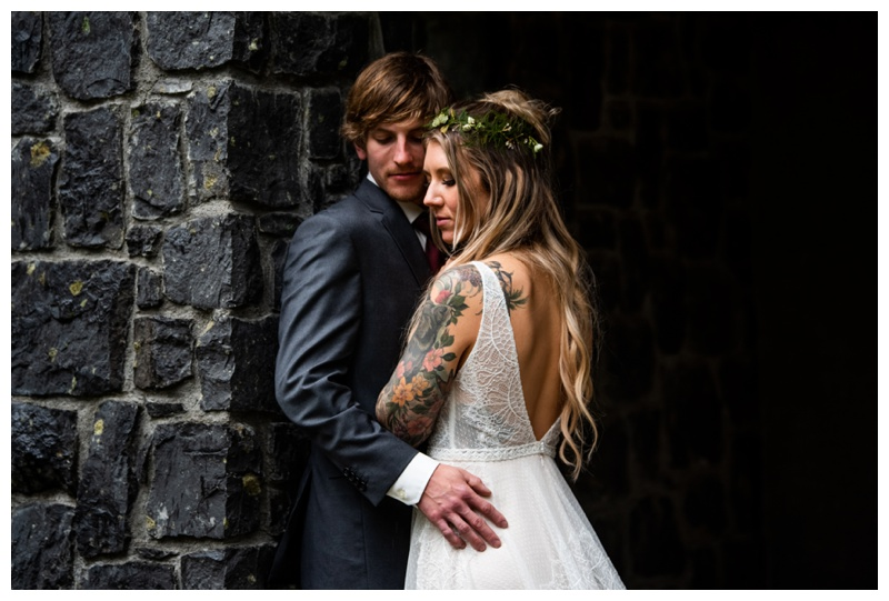Fernie Island Lake Lodge Wedding - Bride & Groom Photo