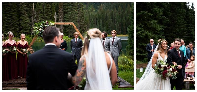 Fernie Island Lake Lodge Wedding Ceremony Photos