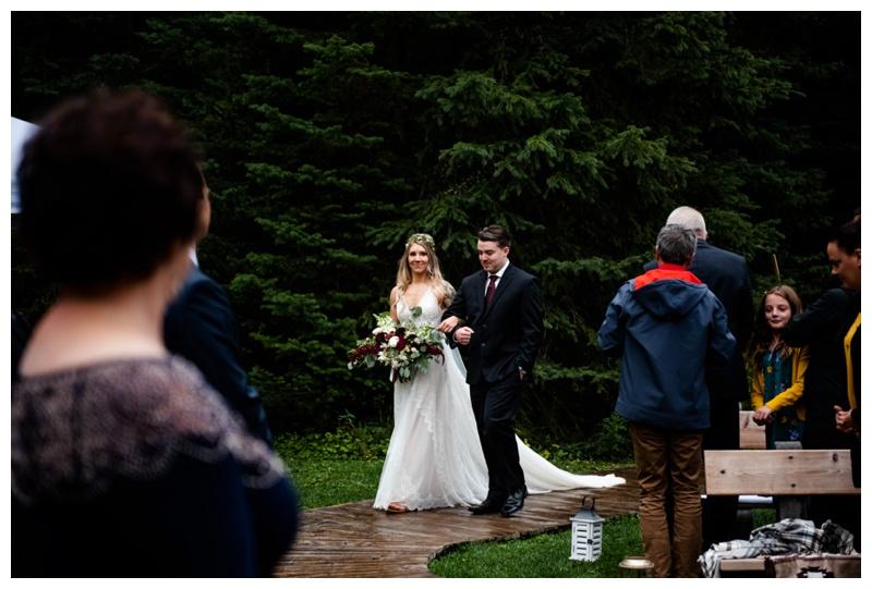 Fernie Island Lake Lodge Wedding Ceremony