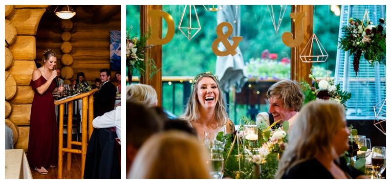 Fernie Island Lake Lodge Wedding Reception Photos