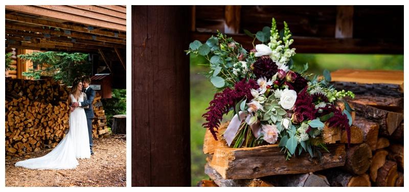 Island Lake Lodge Wedding Fernie BC- Bride & Groom Photo