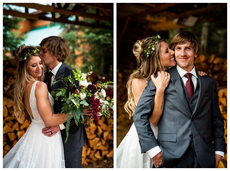 Island Lake Lodge Wedding Fernie BC- Bride & Groom Photos
