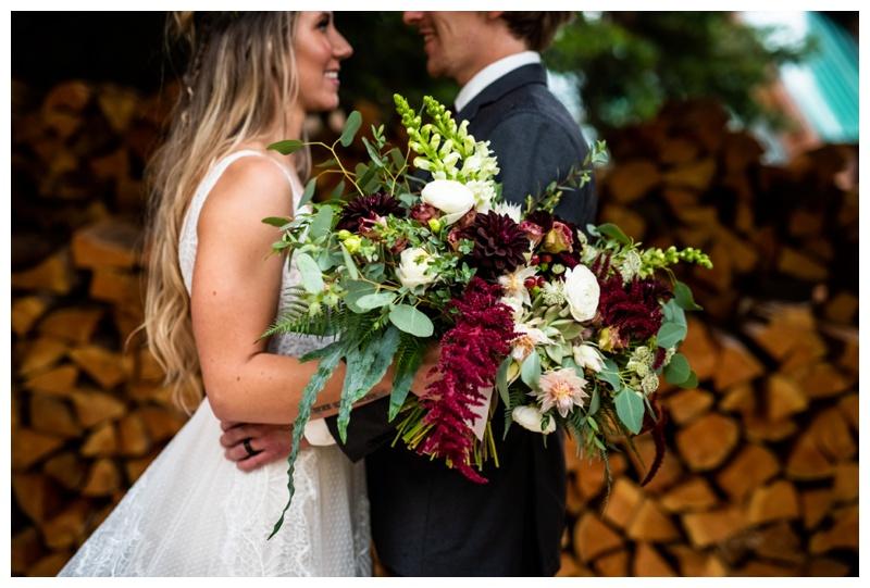 Island Lake Lodge Wedding Fernie BC- Bride & Groom Portraits
