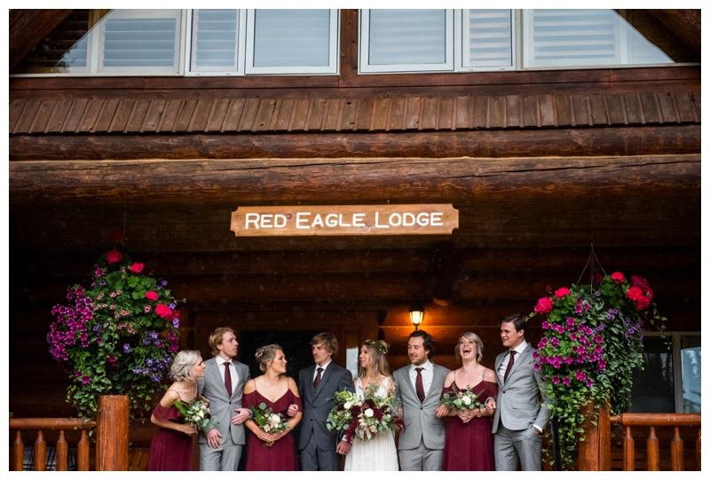 Island Lake Lodge Wedding Fernie - Wedding Party Photography