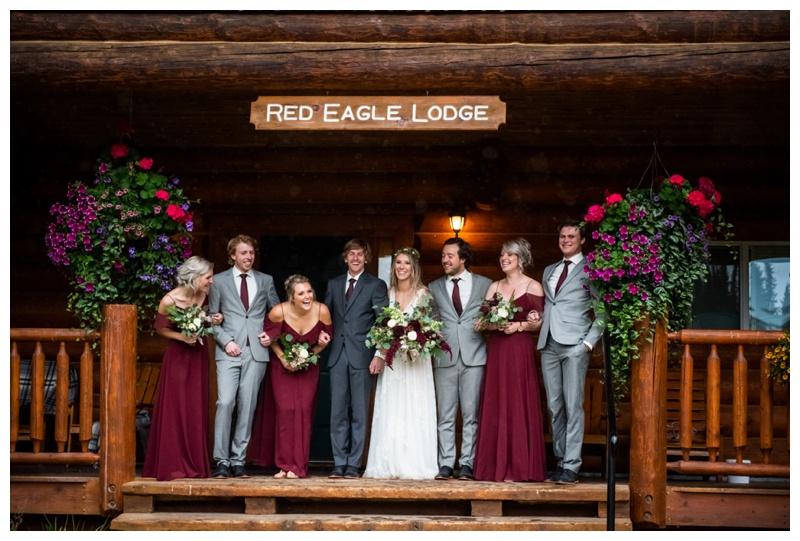 Island Lake Lodge Wedding Fernie - Wedding Party Photos